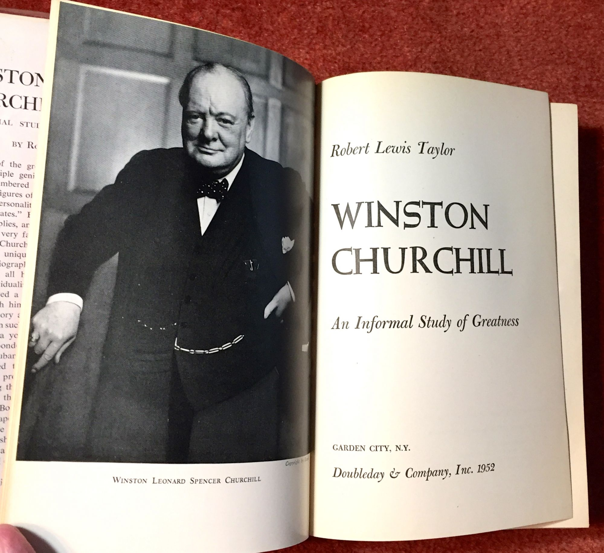 An Informal Study of Greatness Winston Churchill