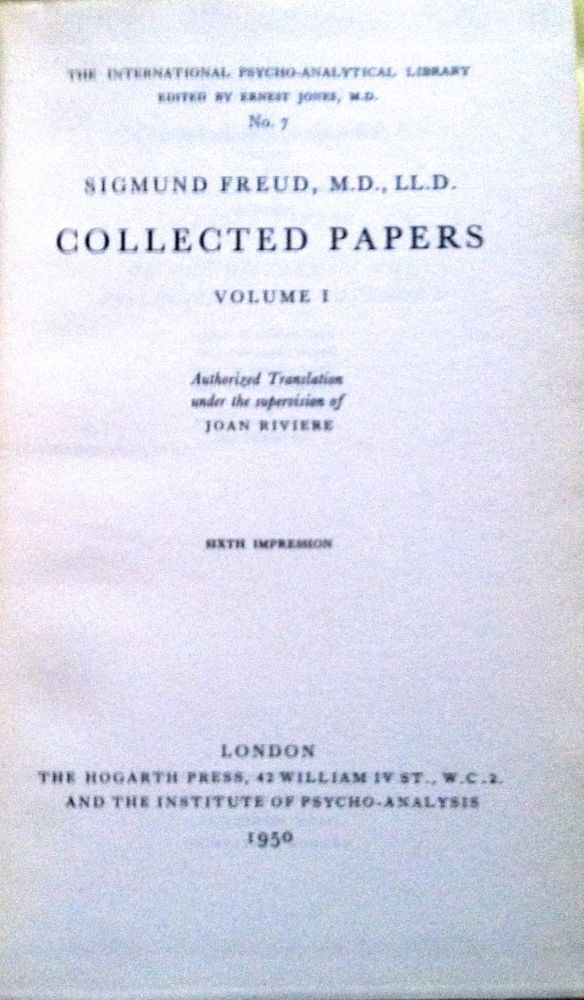 freud papers online Sigmund freud collection now online  freud's papers at the library are part of a larger body of materials relating to psychoanalysis and the freudian movement donated, beginning in 1952.