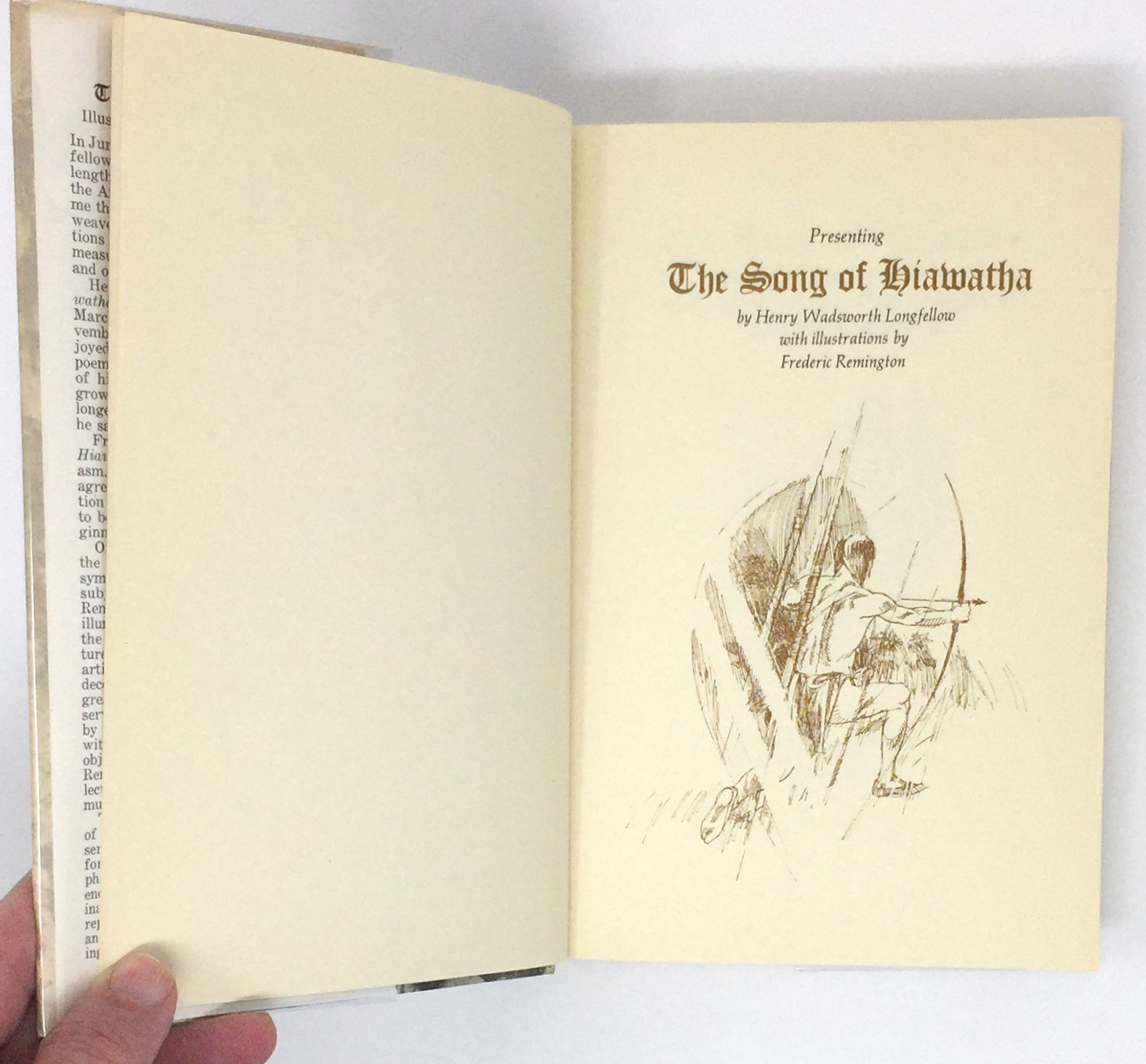 presenting the song of hiawatha by henry wadsworth longfellow  presenting the song of hiawatha by henry wadsworth longfellow illustrations from designs by frederick remington
