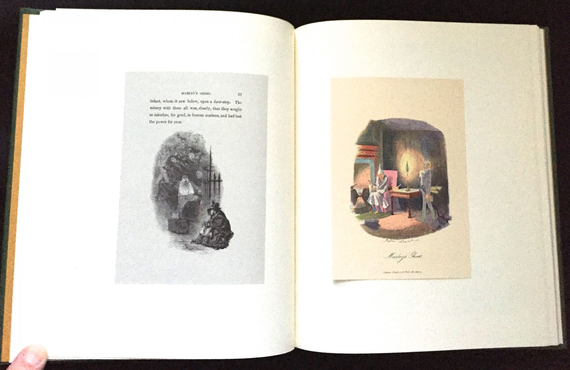 a christmas carol by charles dickens a facsimile of the manuscript in the pierpont morgan library with illustrations of john leech and the text from - A Christmas Carol First Edition