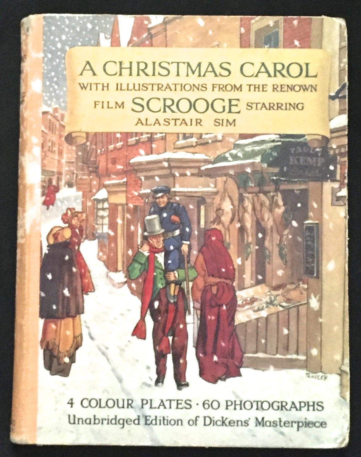 Christmas Carol Book.A Christmas Carol Movie Tie In Edition Being A Ghost Story Of Christmaswith 4 Plates In Colour By Charles Dickens On Borg Antiquarian