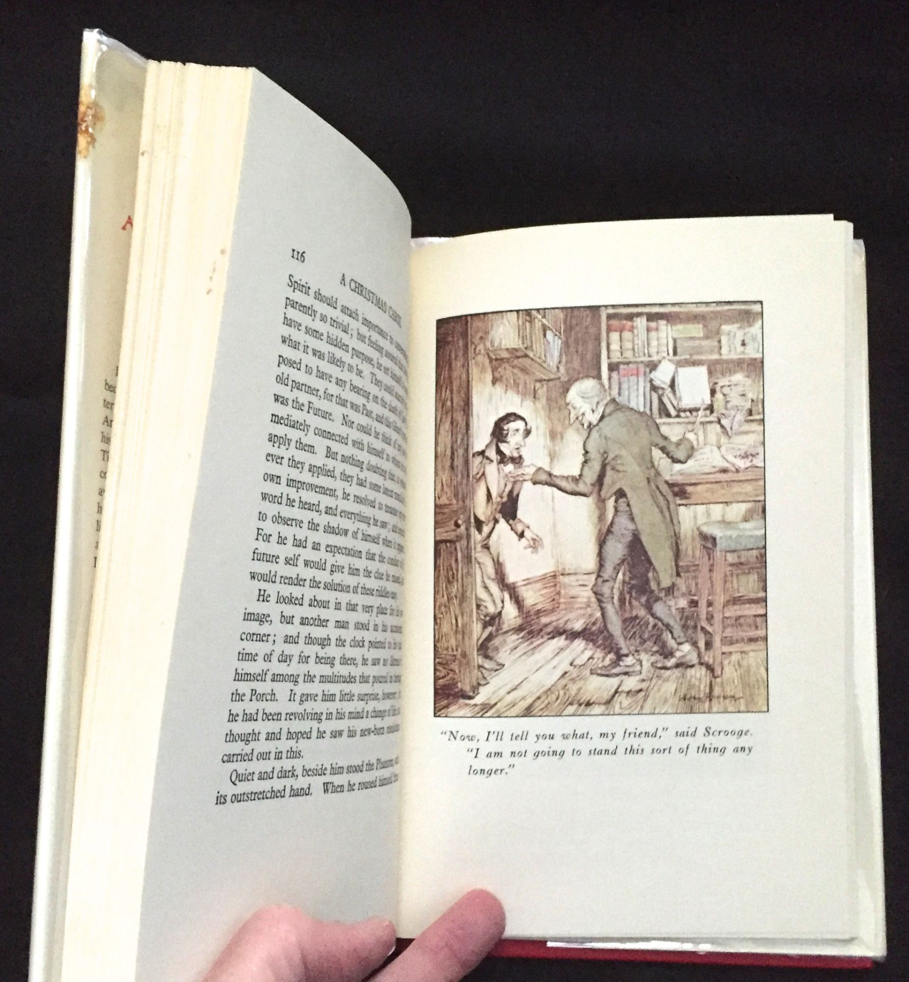 A Christmas Carol By Charles Dickens Illustrated By Arthur Rackham Charles Dickens First Weathervane Reprint