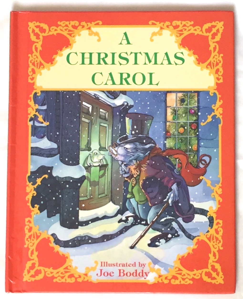 A Christmas Carol Book Cover.A Christmas Carol Illustrated By Joe Boddy Adapted From The Story By Charles Dickens By Charles Dickens On Borg Antiquarian