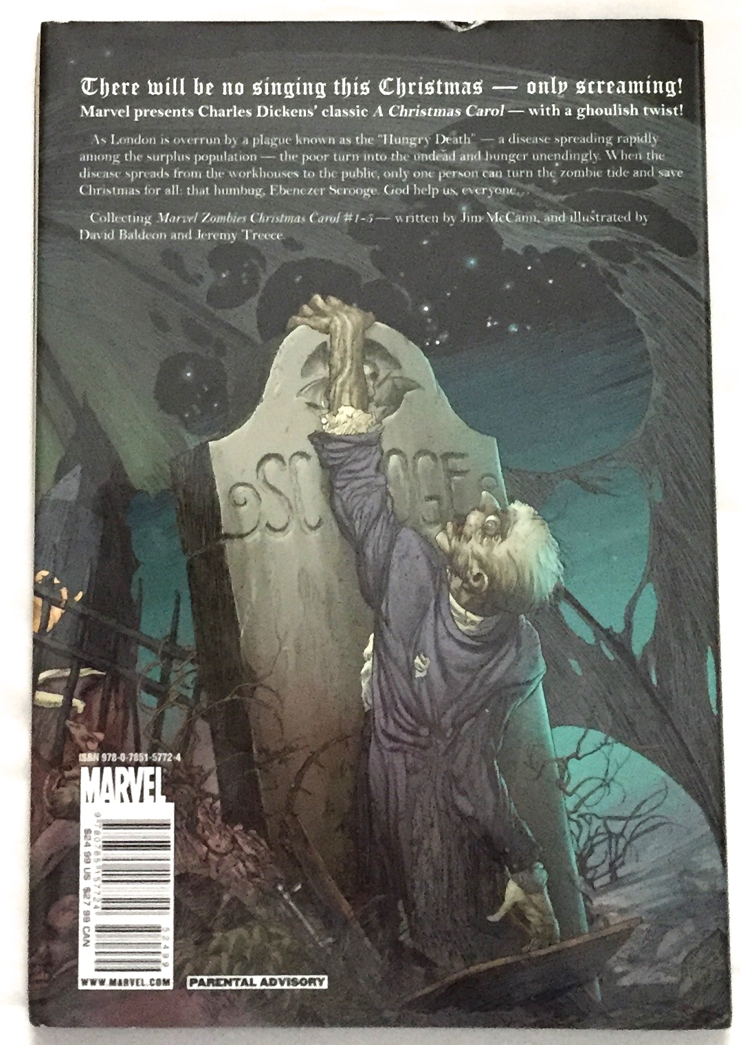 A ZOMBIE'S CHRISTMAS CAROL; In Sequential Art /Being / An Undead Story of Christmas / by Charles ...