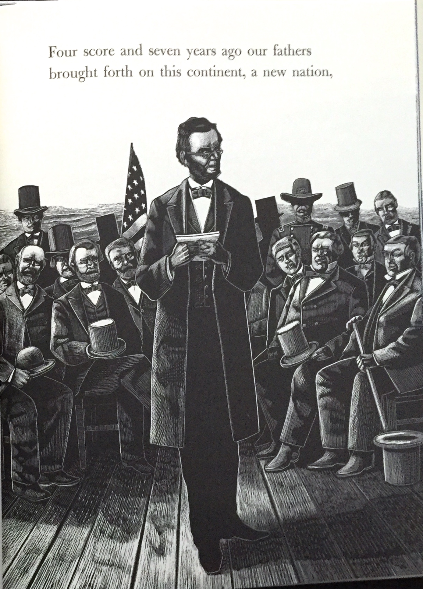 the gettysburg address by abraham lincoln illustrated by michael