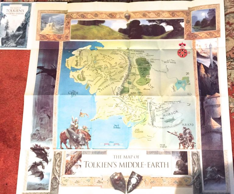 THERE AND BACK AGAIN: The MAP of THE HOBBIT plus A MAP of Tolkien's MIDDLE-EARTH. J. R. R. Tolkien, Brian Sibley, John Howe.