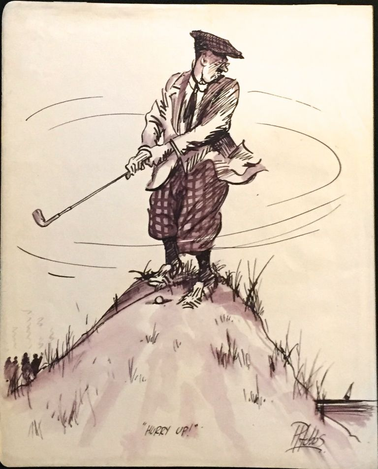 Eight Amusing Cartoons of Golfers. Hobbs, eter.