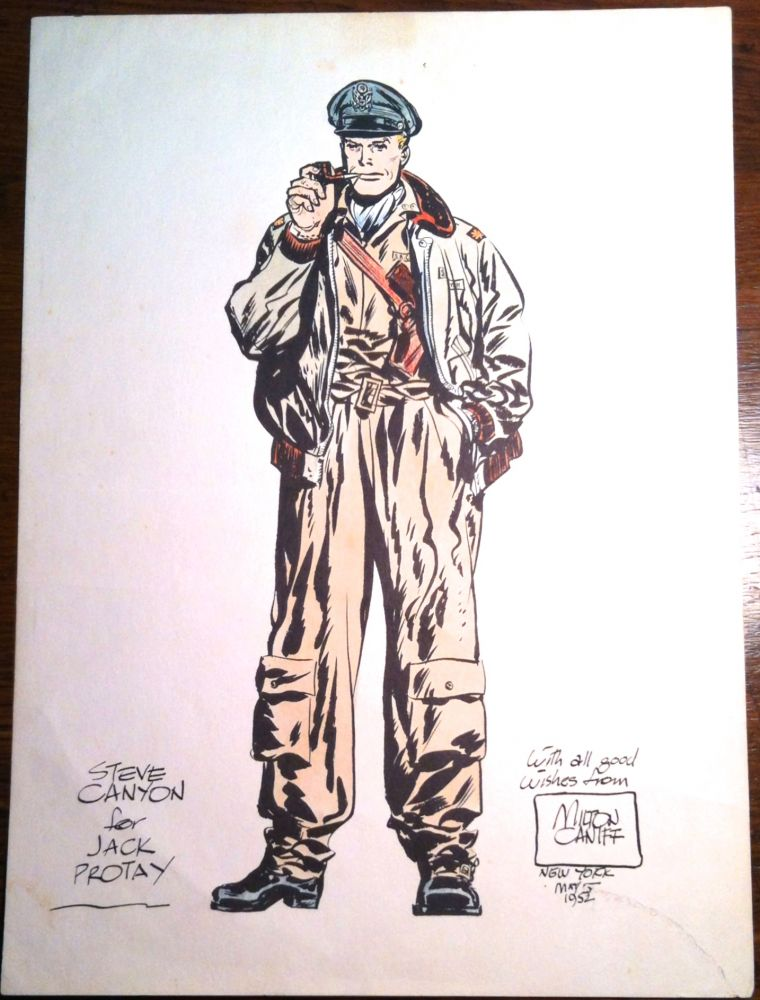 STEVE CANYON; for Jack Protey. Cartoon, Milt Caniff.