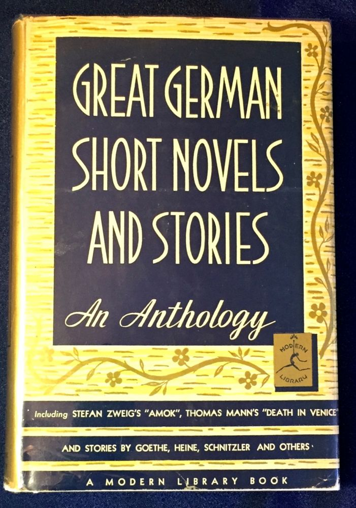 GREAT GERMAN SHORT NOVELS AND STORIES; Edited by Bennett A. Cerf. German Literature, Bennett A. Cerf.