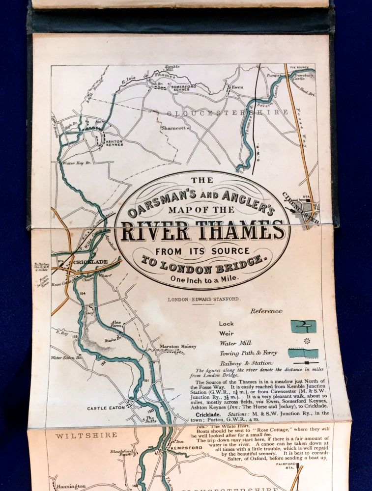 THE OARSMAN'S AND ANGLER'S MAP OF THE RIVER THAMES; New Edition. Anonymous.