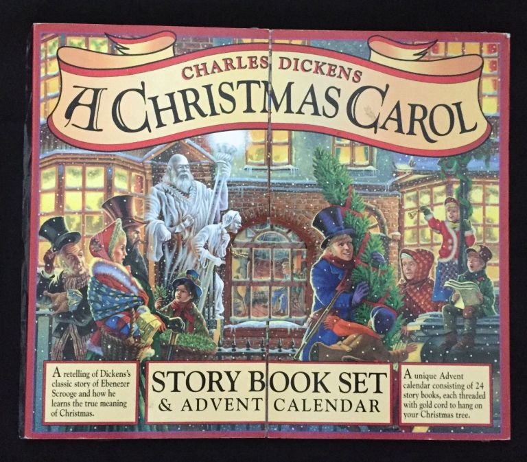 Charles Dickens / A CHRISTMAS CAROL; STORY BOOK SET / & ADVENT CALENDAR Retelling of Dickens's classic story of Ebenezer Scrooge and how he learns the true meaning of Christmas / A unique Advent calendar consisting of 24 story books, each threaded with gold cord to hand on your Christmas tree. Charles Dickens.
