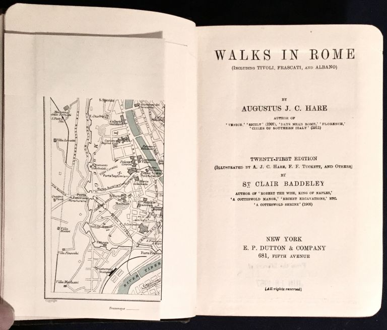 WALKS IN ROME; (Including Tivoli, Frascati, and Albano) / By Augustus J. C. Hare. Augustus J. C. Hare, St. Clair Baddeley.