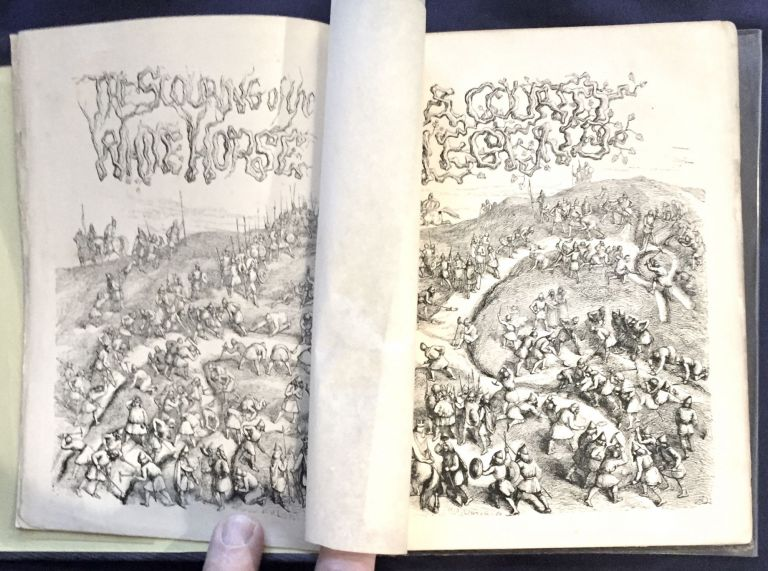 """THE SCOURING OF THE WHITE HORSE; or, the Long Vacation Ramble of a London Clerk / By the Author of """"Tom Brown's School Days."""" / Old and New / Illustrated by Richard Doyle. Thomas Hughes."""