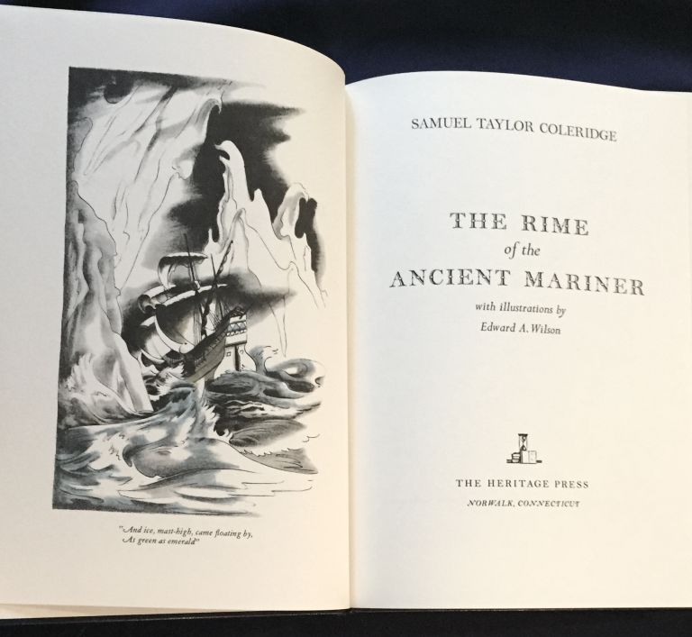 THE RIME OF THE ANCIENT MARINER; with illustrations by Edward A. Wilson. Samuel Taylor Coleridge.