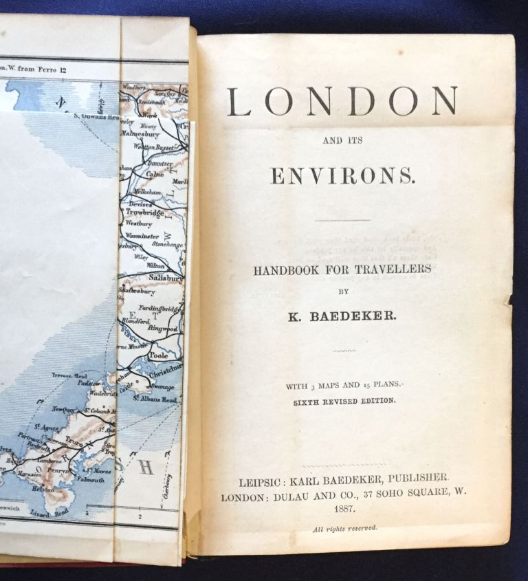 LONDON; And Its Environs. / Handbook for Travelers / By Karl Baedeker / With 3 Maps and 15 Plans, Baedeker.