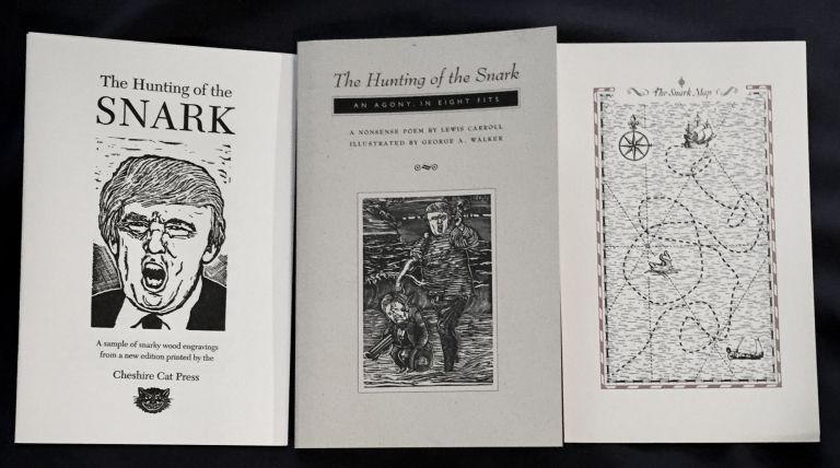 THE HUNTING OF THE SNARK: An Agony in Eight Fits / By Lewis Carroll / with Thirteen Wood Engravings on a Contemporary Theme by George A. Walker. Cheshire Cat Press, Lewis Carroll, Introduction Mark Burstein, George A. Walker.