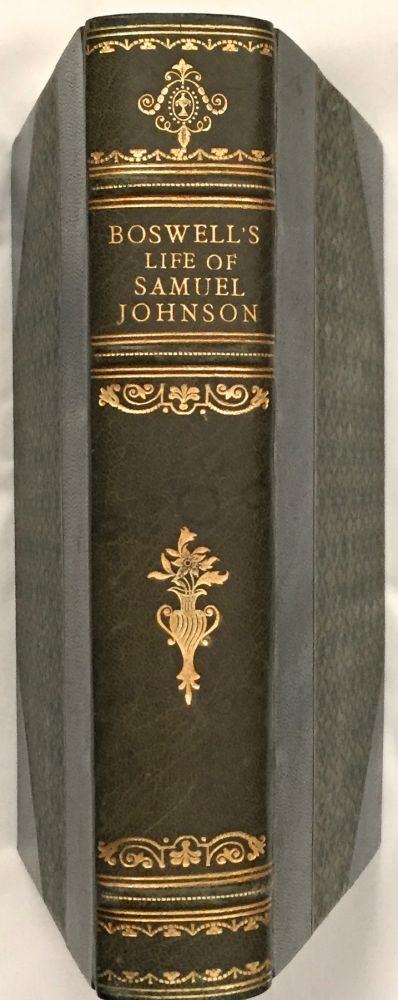 THE LIFE OF SAMUEL JOHNSON L.L.D.; Complete and Unabridged with Notes. James Boswell Esq.