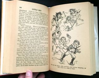 LITTLE MEN; Life at Plainfield with Jo's Boys / by Louisa May Alcott / Author of Little Women, An Old-Fashioned Girl, etc. / With Illustrations by Frances Brundage
