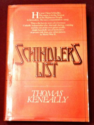 SCHINDLER'S LIST. Thomas Keneally