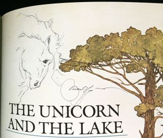 THE UNICORN AND THE LAKE; Pictures by Michael Hague