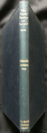 THE EARLY POETRY OF ISRAEL IN ITS PHYSICAL AND SOCIAL ORIGINS; The Schweich Lectures 1910. MA....