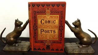 THE COMIC POETS OF THE NINETEENTH CENTURY; Poems of Wit and Humour by Living Writers / Selected...