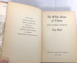 THE WHITE HORSES OF VIENNA; and other stories