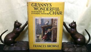 GRANNY'S WONDERFUL CHAIR; Illustrated with four colour plates and line drawings in the text by D....