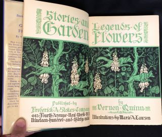 STORIES AND LEGENDS OF GARDEN FLOWERS; Illustrations by Marie A. Lanson