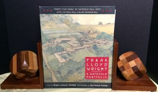 FRANK LLOYD WRIGHT; A Gatefold Portfolio / Text by Robin Langley Sommer / Photographs by...