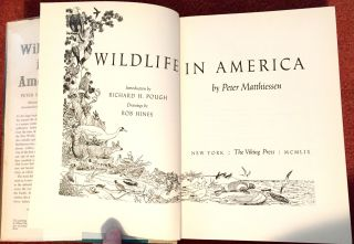 WILDLIFE IN AMERICA; Introduction by Richard H. Pough / Illustrated by Bob Hines