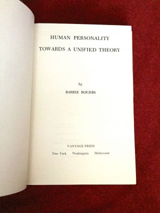 HUMAN PERSONALITY:; Towards A Unified Thheory