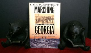 MARCHING THROUGH GEORGIA; The Story of Soldiers & Civilians During Sherman's Campaign. Lee Kennett