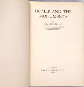 HOMER AND THE MONUMENTS