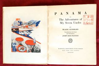 PANAMA; or the Adventures of My Seven Uncles / translated from the French and Illustrated by John Dos Passos