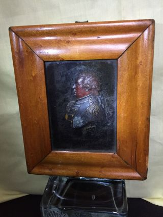 Carved Wax Framed Portrait. Admiral Adam Duncan, 1st Viscount Duncan