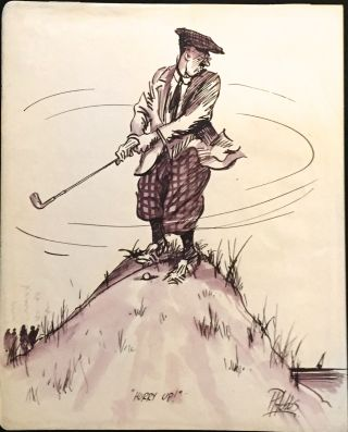 Eight Amusing Cartoons of Golfers. Hobbs, eter