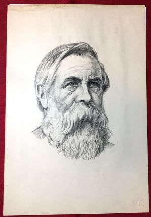 PORTRAIT OF FRIEDRICH ENGELS. Friedrich Engels, Rudolf Herrmann