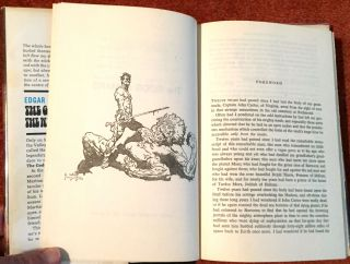 THE GODS OF MARS & THE WARLORD OF MARS; Illustrations by Frank Frazetta