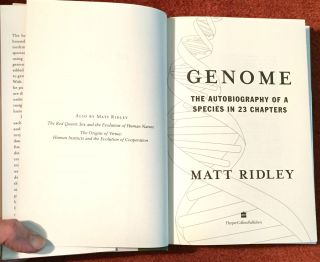 Genome; The Autobiography of a Species in 23 Chapters