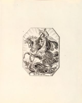 """Albion"" [Bookplate]. E. Francis"