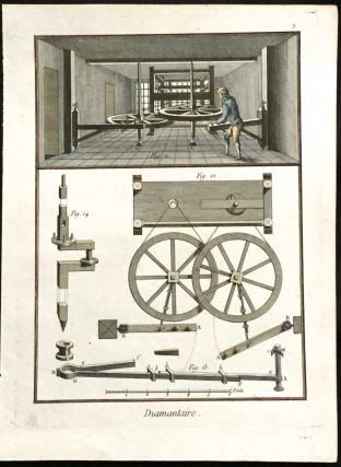 Diamond Cutting. Print, DIDEROT