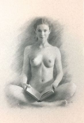 CLASSIC NAKED WOMAN, HOLDING BOOK. Arthur Smith.