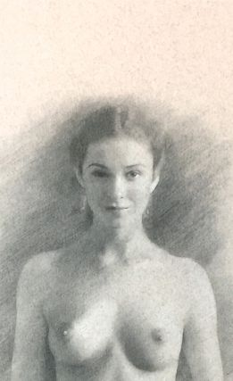 CLASSIC NAKED WOMAN,; HOLDING BOOK
