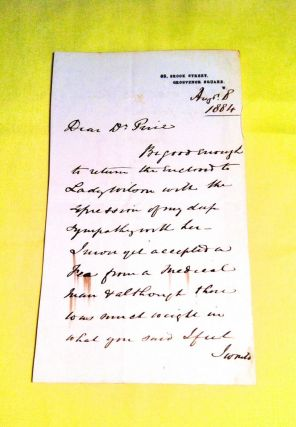 Autograph Letter Signed. William Jenner, M. D