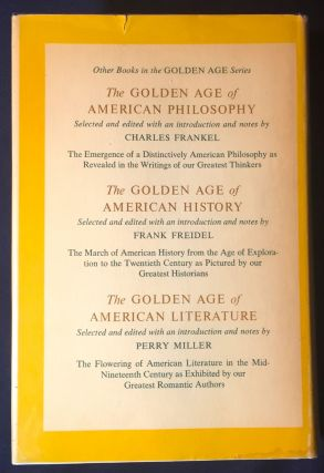 THE GOLDEN AGE OF AMERICAN ANTHROPOLOGY; Selected and edited with an introduction and notes by MARGARET MEAD and RUTH L. BUNZEL