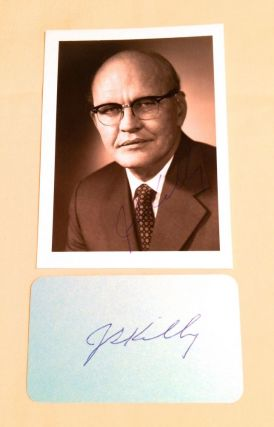 Typed Letter and Card Signed on first MICROCHIP. Nobel Laureate, KILBY: Microchip