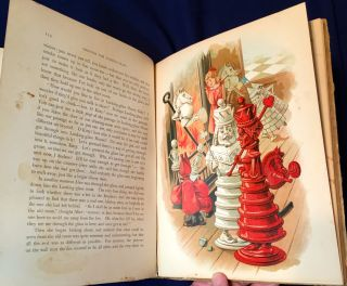 ALICE'S ADVENTURES IN WONDERLAND and TRHOUGH THE LOOKING GLASS; With Ninty-two Illustrations by JOHN TENNIEL / New Edition in One Volume