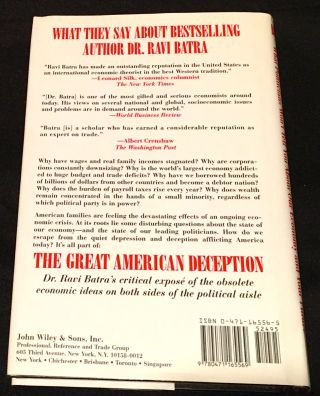 GREAT AMERICAN DECEPTION; What Politicians Won't Tell You About Our Economy And Your Future