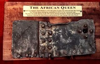 "Two Steel Plates from ""THE AFRICAN QUEEN"" steamer from the 1951 Movie. ""The African Queen"""